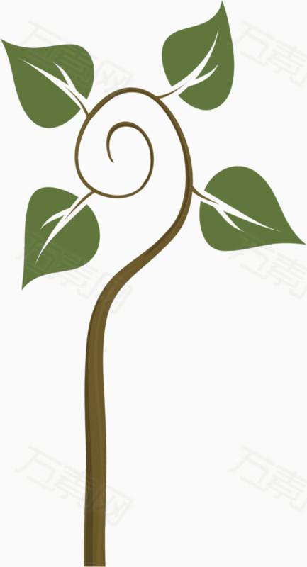 手绘小树苗                 万素网提供手绘小树苗png设计图片