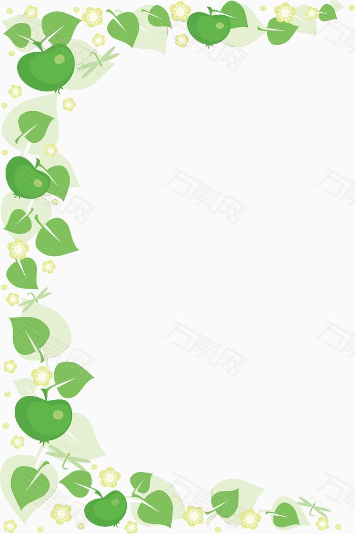 万素网 素材分类 树叶边框  5079                           提示