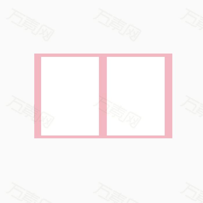 粉色矩形框素材图片免费下载_图标元素_万素网