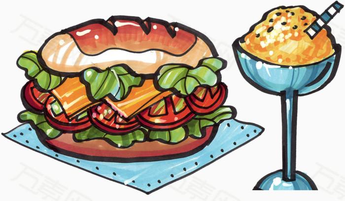万素网提供卡通食物png设计素材,背景素材下载.该素材体积0.