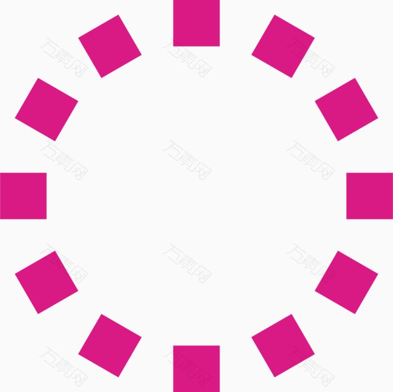 粉色虚线圆圈虚线圆素材