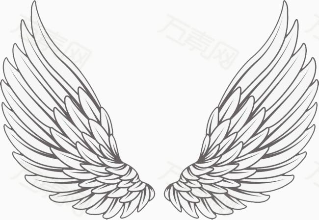 翅膀画法步骤教程