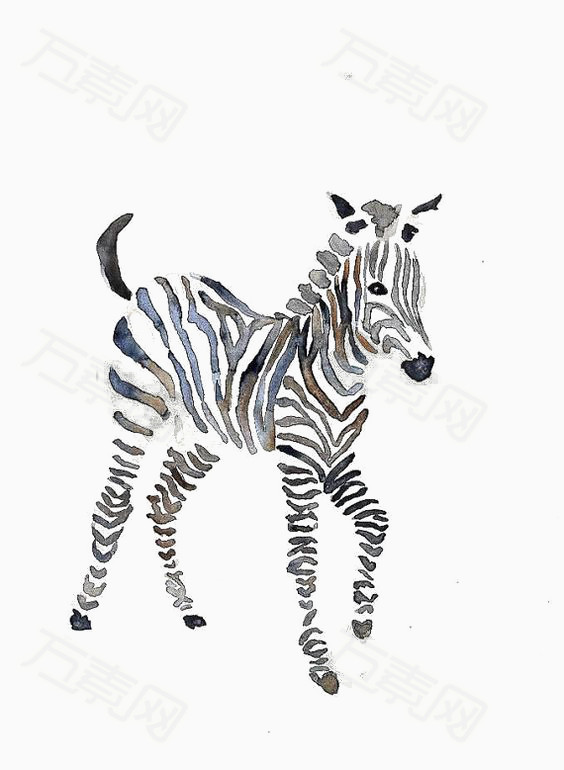 可爱动物 卡通动物 儿童画动物 手绘 插画