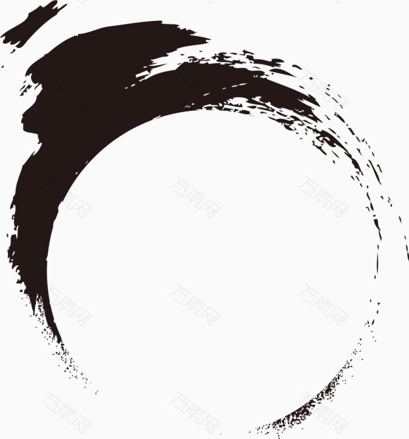 墨迹水墨圆圈中国风宣传页