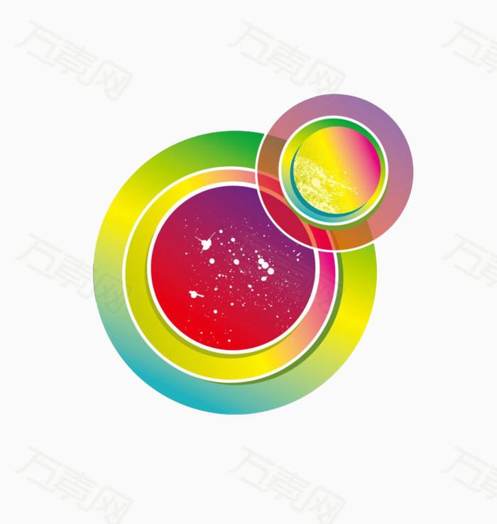 多彩圆圈圈图片免费下载_卡通手绘_万素网