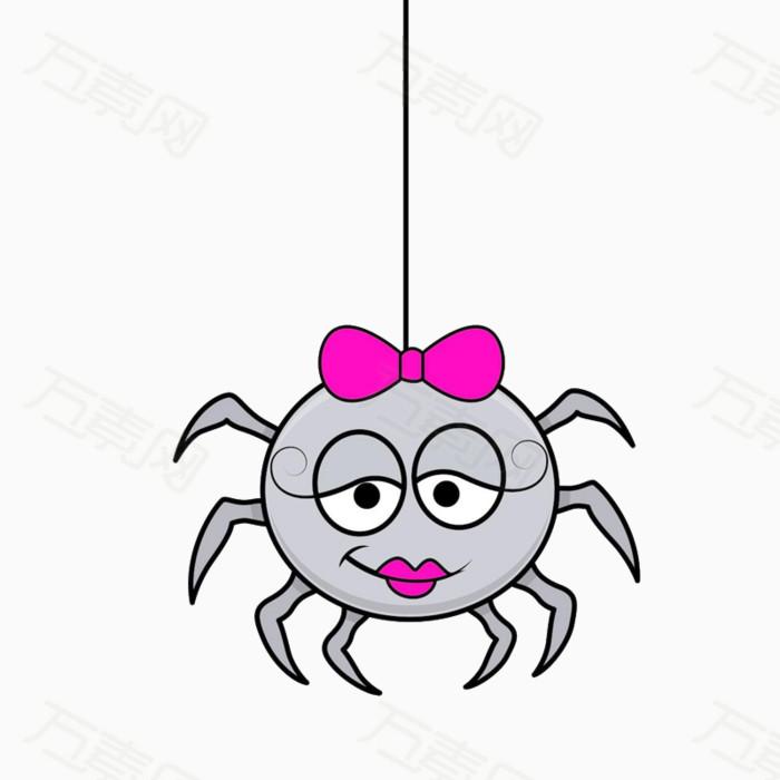 卡通万圣节蜘蛛图片