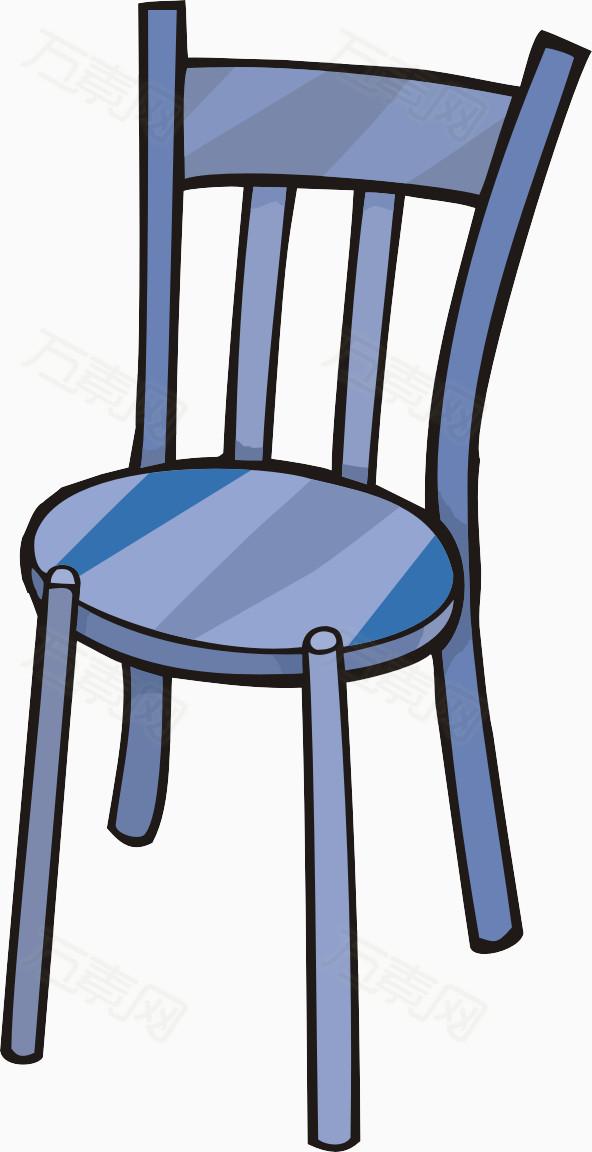 蓝色椅子图片免费下载_卡通手绘_万素网图片