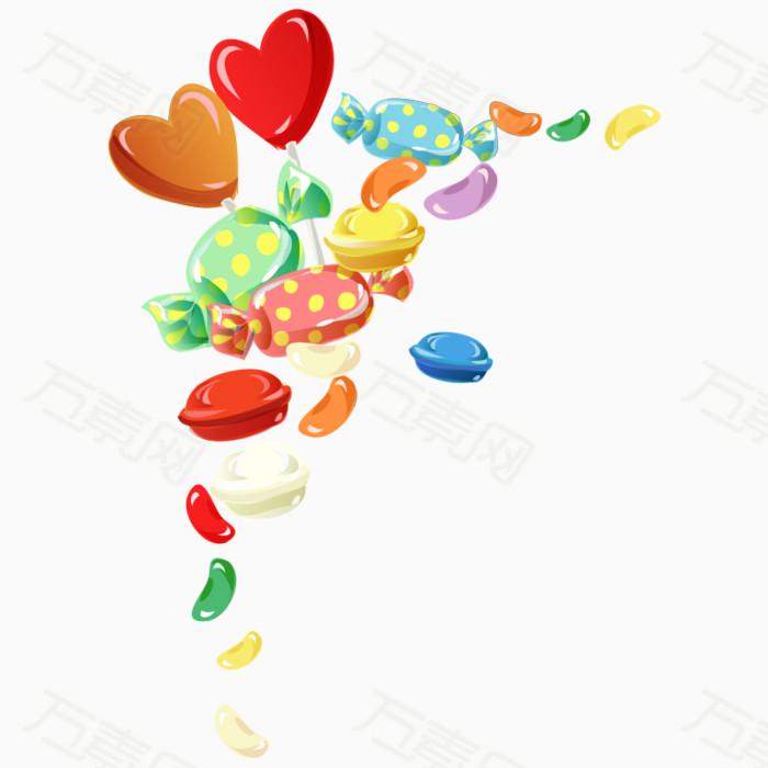 卡通糖果 儿童 爱心 儿童节png 漂浮 糖果
