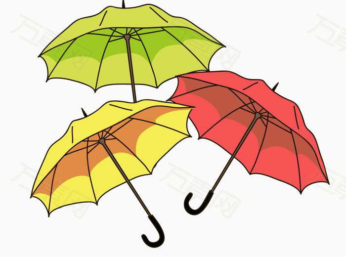 卡通彩色雨伞