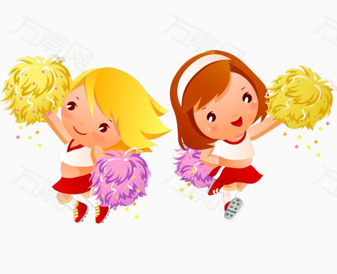 跳舞 可爱的小孩子 孩童 童真  卡通人物 卡通手绘  儿童