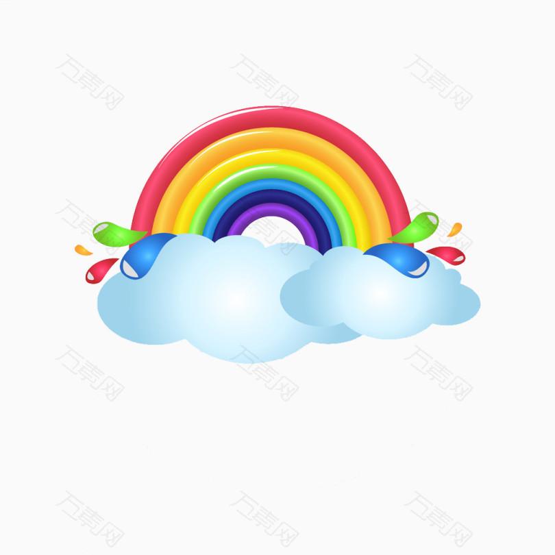 彩虹背景设计图
