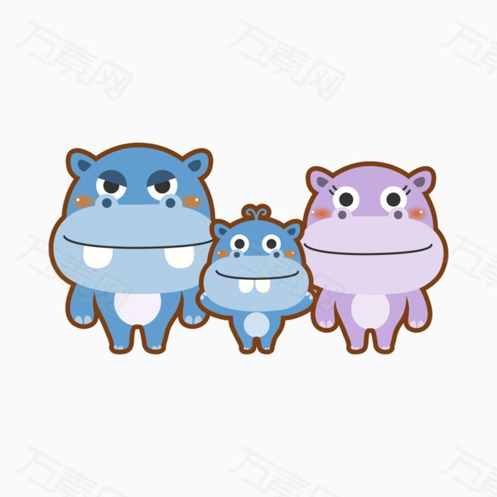 可爱卡通小动物图片免费下载_卡通手绘_万素网