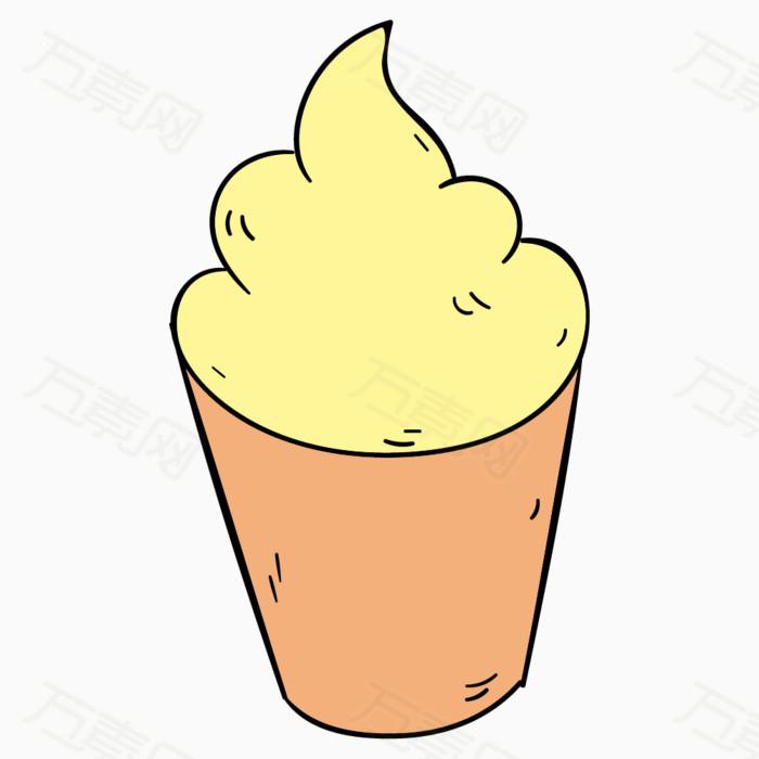 卡通冰激凌 手绘冰激凌 冰淇淋 雪糕 沙滩