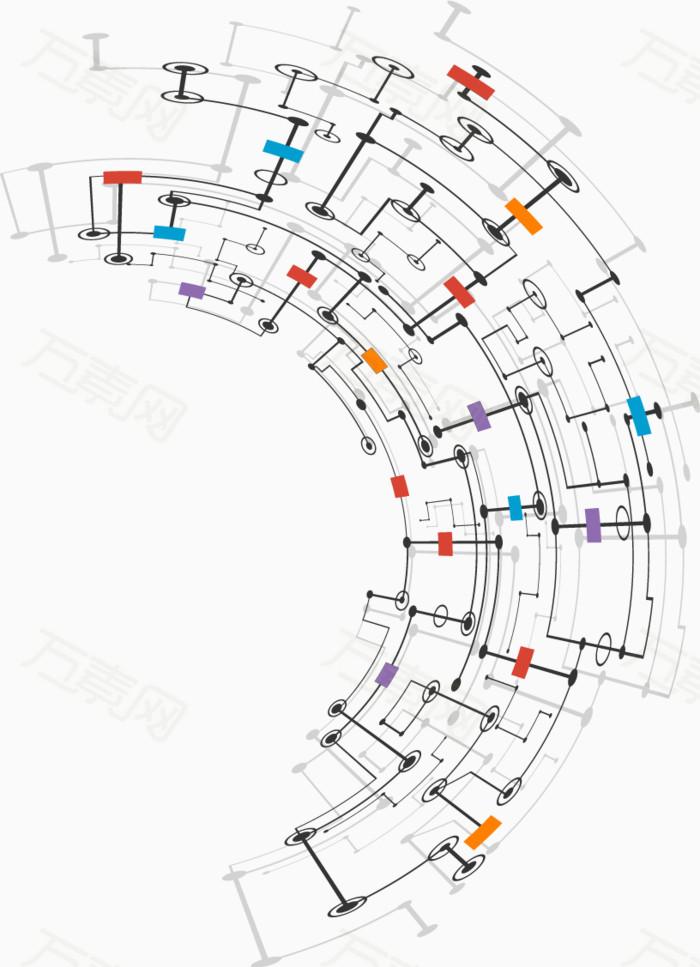 科技抽象电路图背景