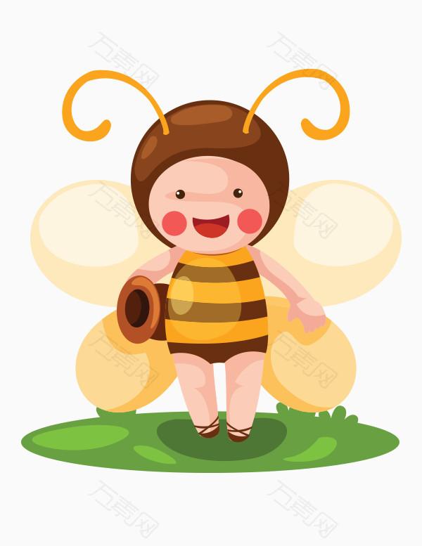 矢量 卡通 蜜蜂