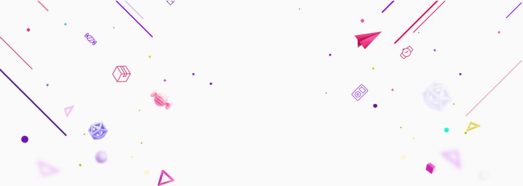淘宝全屏背景线性图形飘浮素材