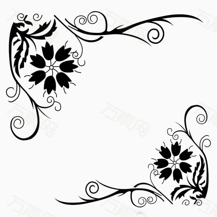 花卉  素材   对角   边框
