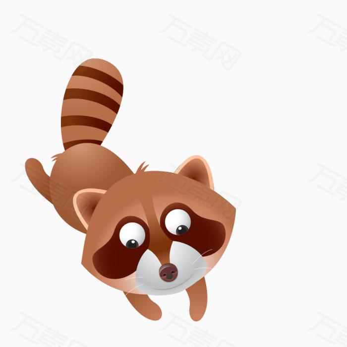 浣熊 可爱动物 卡通动物    陆地动物