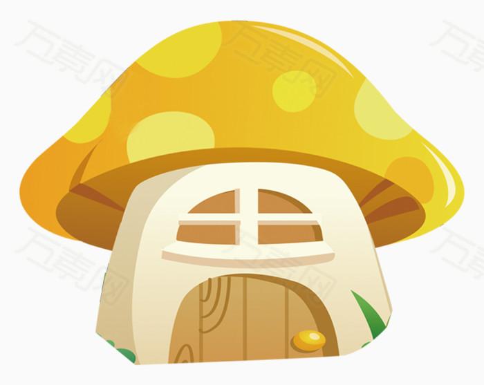 黄色蘑菇小屋