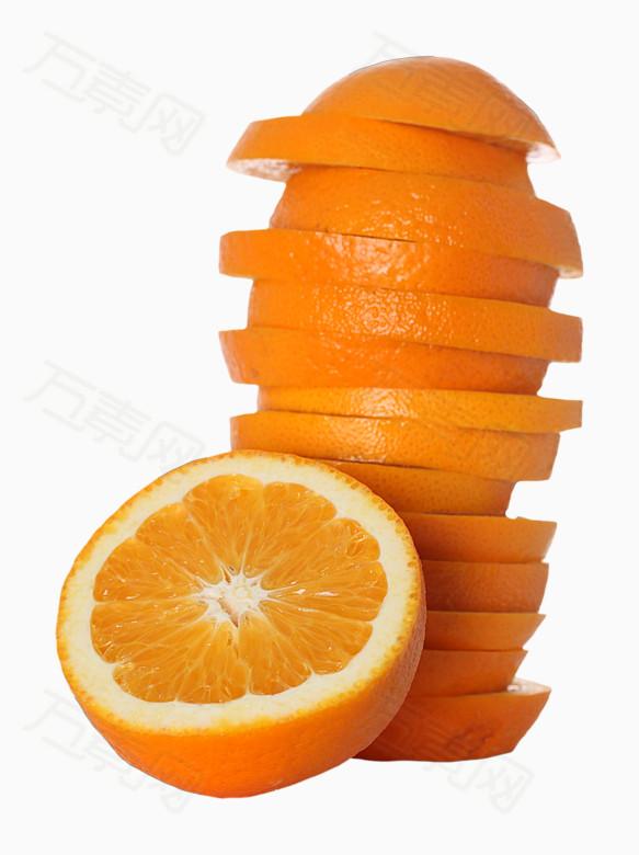 水果手绘橙子片