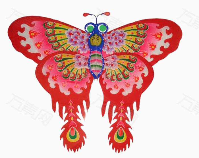 纸质手工制作蝴蝶风筝图片