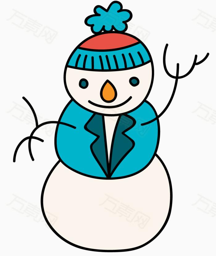 雪人 圣诞节 圣诞主题 元素 png 卡通 手绘 简笔画 可爱