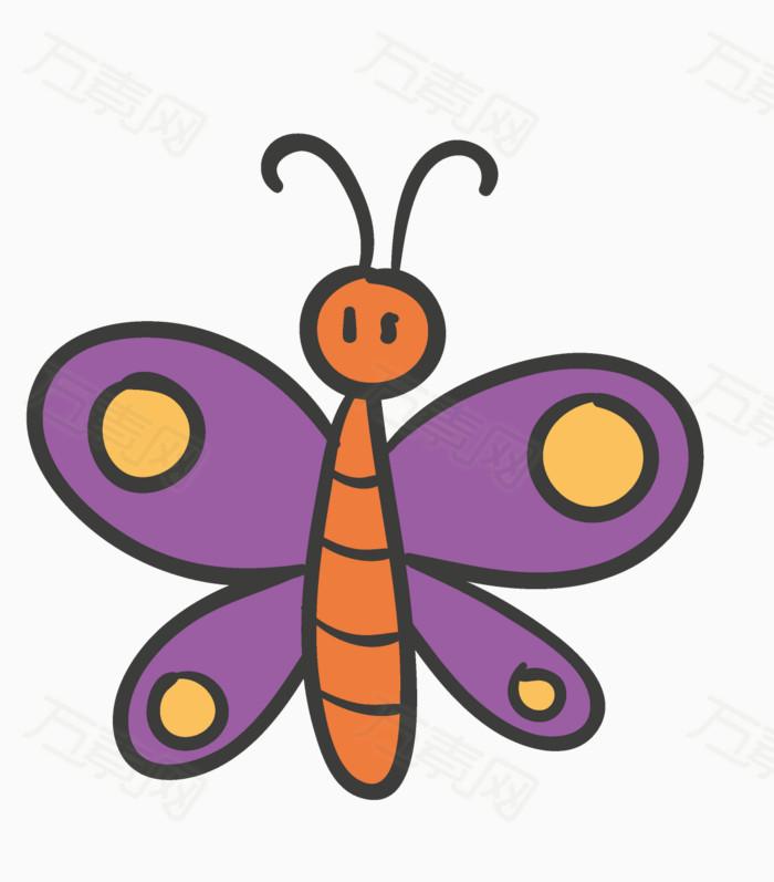 小蝴蝶 蝴蝶png 可爱的蝴蝶 蝴蝶矢量图 卡通
