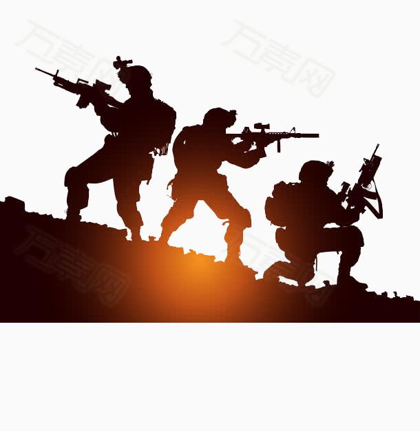 军人图片免费下载_卡通手绘_万素网