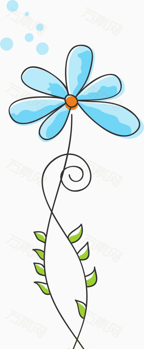 创意个性手绘动漫花朵