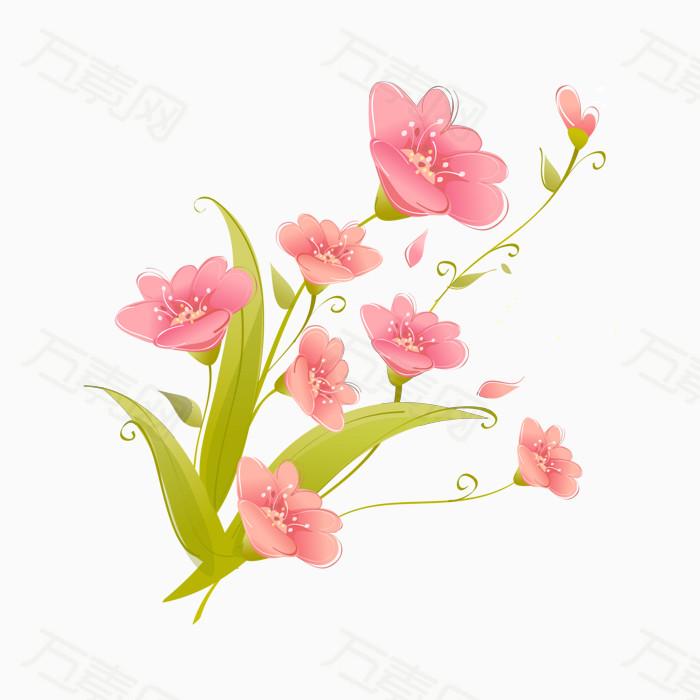 卡通手绘唯美粉色小花