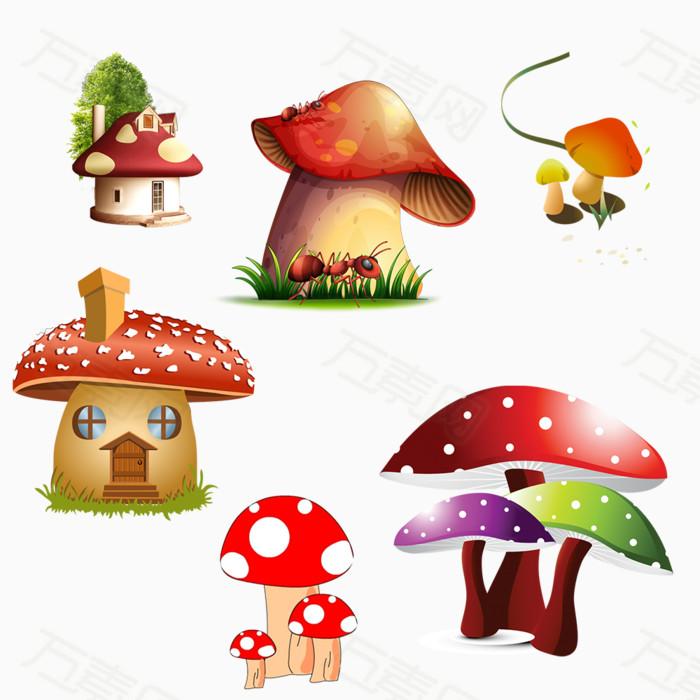 房子蘑菇手绘图片免费下载_卡通手绘_万素网