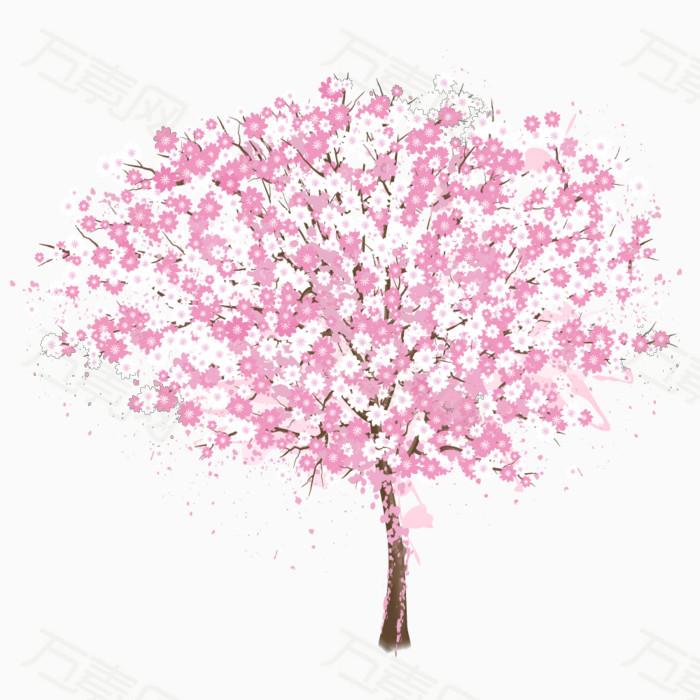 桃花 桃树 手绘桃树 手绘桃花 花朵 花卉植物