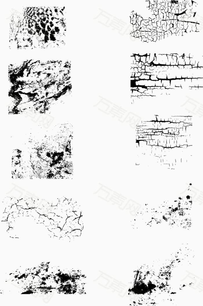 纹理  爆裂  裂纹  肌理   裂痕  裂开  矢量素材