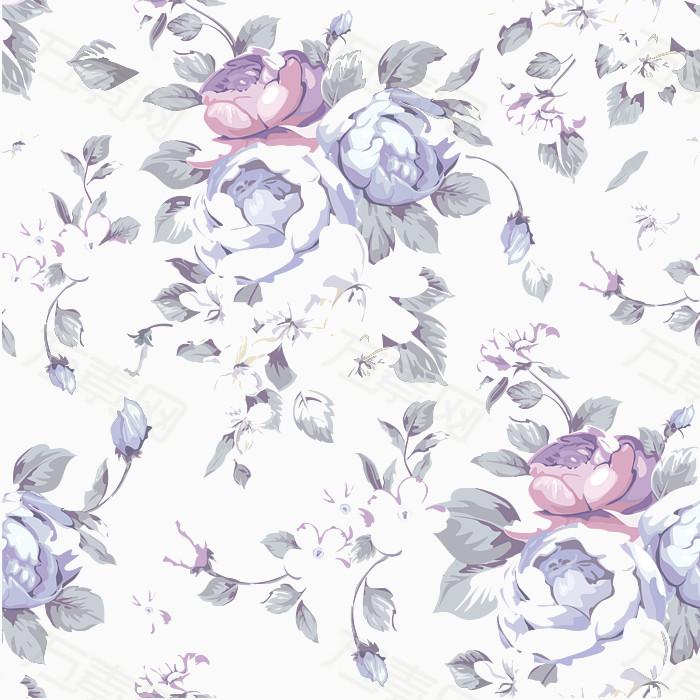 唯美清新花卉图案纹样