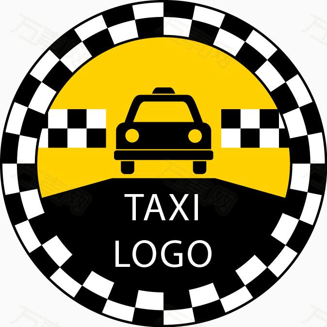 手绘黑白格子圆形边框汽车免费下载_装饰元素_674像素