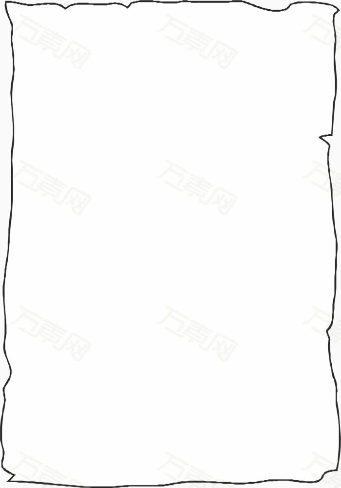 白纸 背景 边框 线条