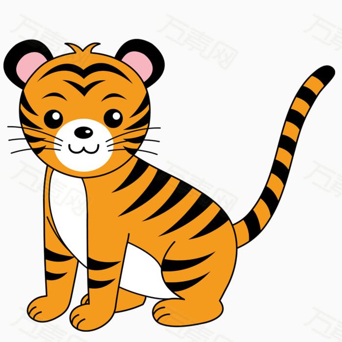 卡通手绘老虎