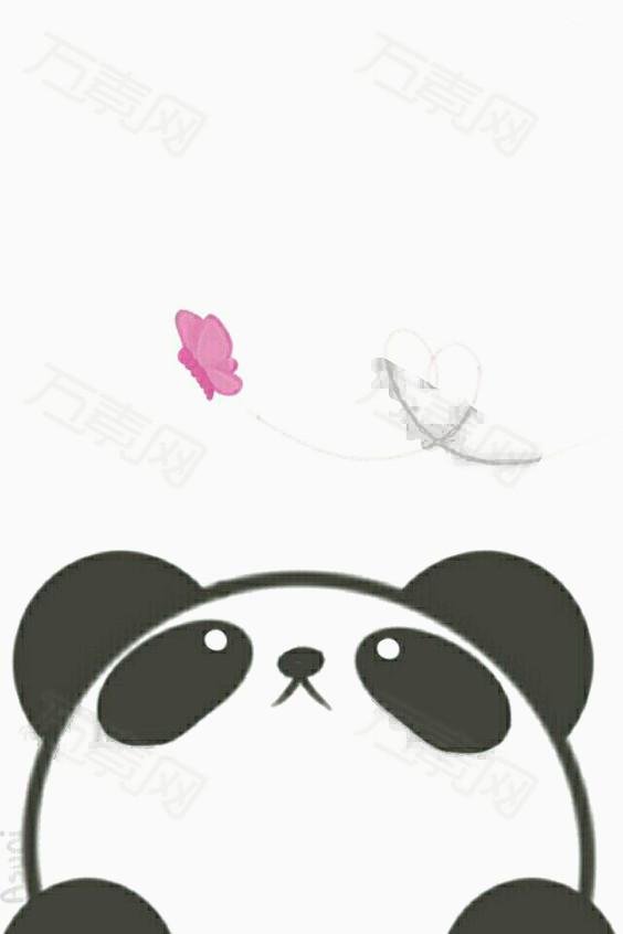 万素网 免抠元素 卡通手绘 熊猫logo  图片素材详细参数: 编号29551