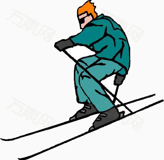 万素网提供滑雪滑冰运动员卡通素材png设计素材,背景图片