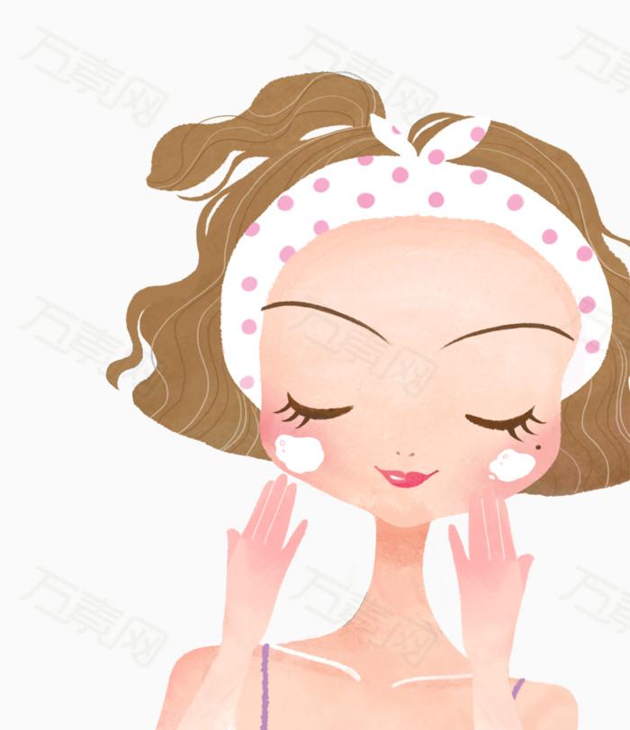 洗脸美女图片免费下载_卡通手绘_万素网