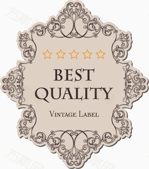 圆形异形欧式花纹标签图片免费下载_边框纹理_万素网