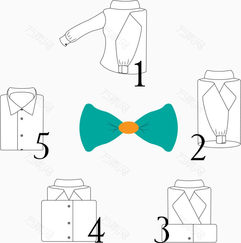 矢量叠衣服步骤