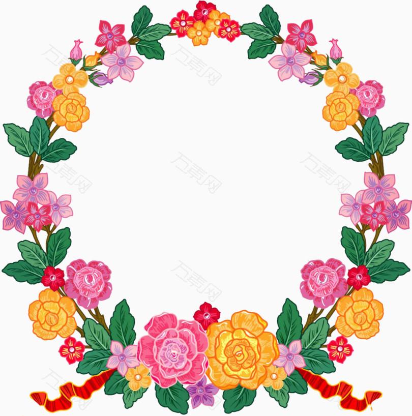 幼儿园花环相框