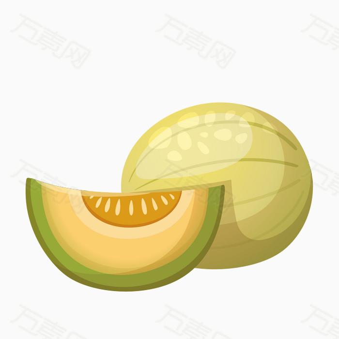 水果 食物 卡通 彩色 哈密瓜 图片