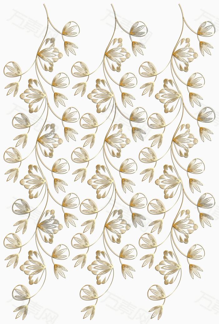 金色条形叶子矢量图片免费下载_边框纹理_万素网