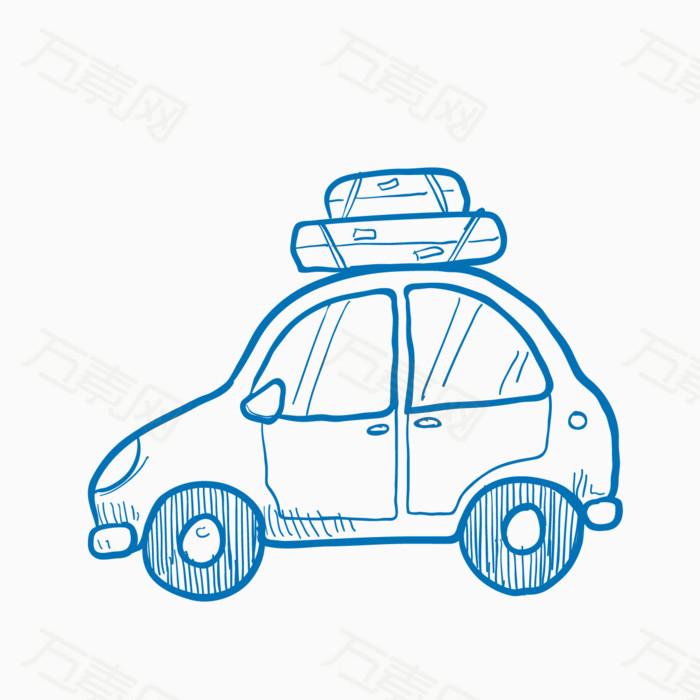 小车 小汽车 出租车 手绘 卡通 简单画 简约图片