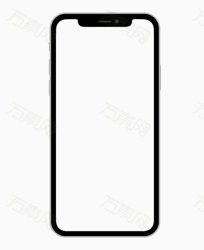 iPhone x手机边框免抠素材