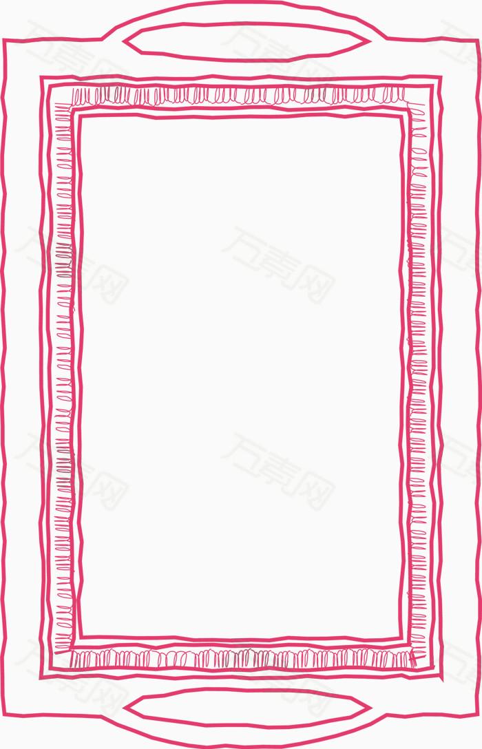 手绘风 线条边框 方形边框 装饰