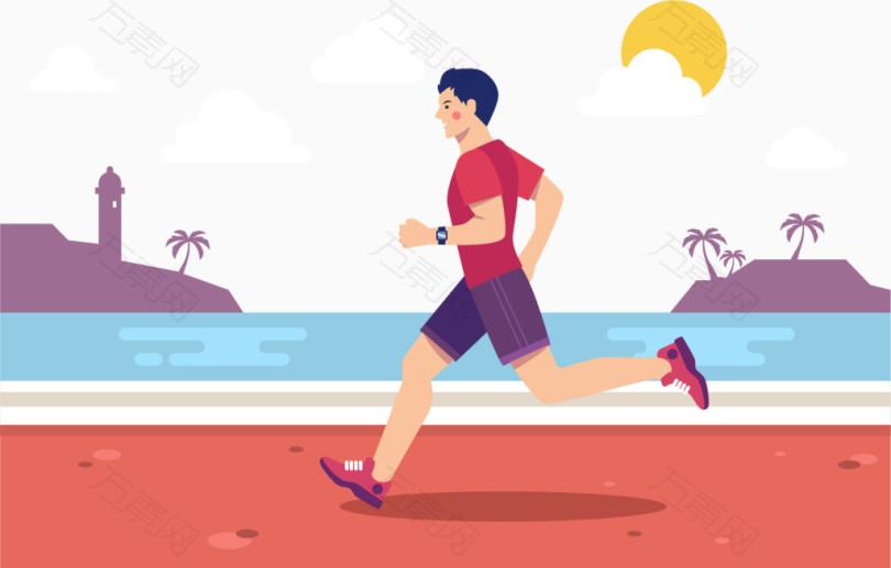 跑步的男人