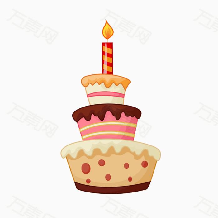 手绘蛋糕 三层蛋糕 蛋糕元素 可爱 手绘 卡通